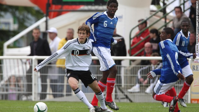 In 2009, current France international Paul Pogba, pictured center, played in the Montaigu tournament for France.