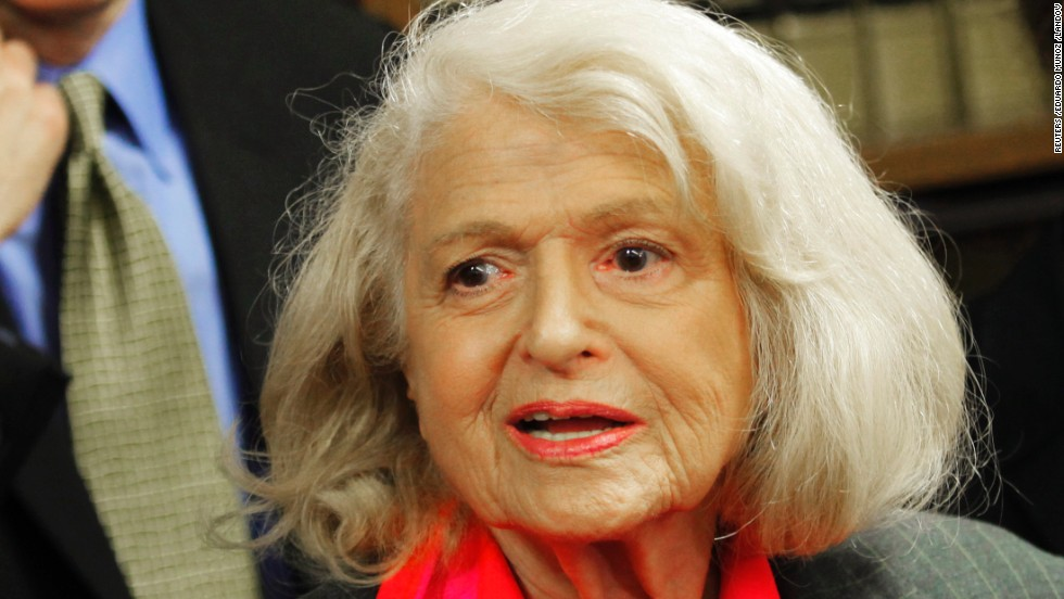 Edith Windsor is leading the campaign to erase the Defense of Marriage Act, which prohibits the federal government from recognizing same-sex marriages. On Wednesday, the Supreme Court heard oral arguments on her suit, which she filed after she had to pay $363,000 in estate taxes after her female partner died because the federal government didn't recognize their marriage.