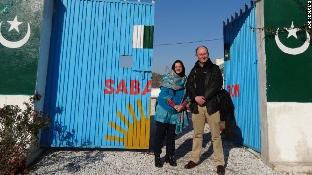 Mia Bloom and John Horgan at Sabaoon which helps children taken in by the Pakistan Taliban to become suicide bombers.
