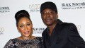 Mbong Amata and Jeta Amata attends the 'Black November' New York City Premiere at United Nations on September 26, 2012 in New York City.