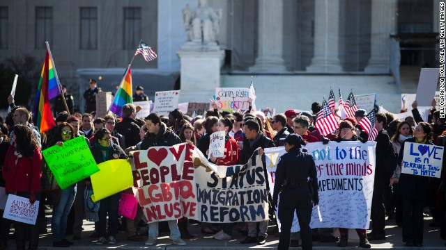 Photos: Outside the Supreme Court