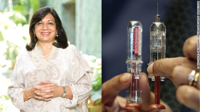 Kiran Mazumdar-Shaw (1953-) Founder of BioCon, India's first biotech company Started: 1978 Kiran Mazumdar-Shaw's qualified as India's first female master brewer, but became an entrepreneur after failing to find a job in brewing. At the age of 25, she started Biocon in a garage with the equivalent of less than $200 in today's money. As a woman and one of the first pioneers of biotechnology in India, she found it difficult to obtain both staff and funding. Mazumdar-Shaw persisted and Biocon, one of India's leading drug companies, is now worth $800 million and employs more than 6,000 people at its vast campus in Bangalore.