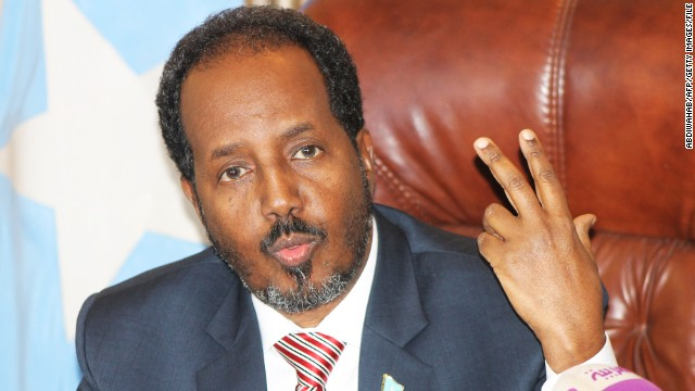 President Hassan Sheikh Mohamud, an academic and activist who has also worked for the United Nations and other organizations, was sworn in at the capital, Mogadishu