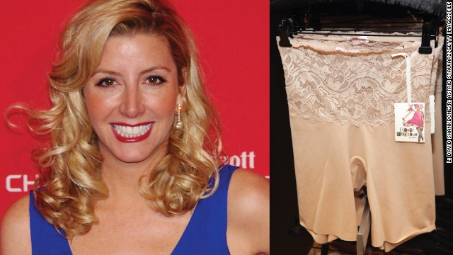 Sara Blakely (1971- ) Spanx underwear Started: 1998 Sara Blakely was working as a sales trainer by day and a stand-up comedienne at night before she started Spanx. She had no business training and knew nothing about the underwear industry, except that she didn't like the way her bum looked in white pants. So, at the age of 29, Blakely used her $5,000 savings to develop a line of shapewear to make women look slimmer. The result: her company, Atlanta-based Spanx, became one of the best selling body shaper lines worldwide, with 2011 sales estimated at $250 million dollars and an estimated corporate value of $1 billion.