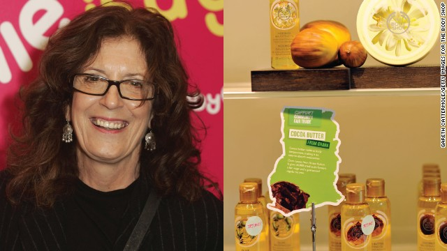 """Anita Roddick (1942-2007) The Body Shop Started: 1976 Environmental activist and entrepreneur Anita Roddick opened her first beauty products store in the English seaside town of Brighton in 1976 to create an income for herself and her two daughters while her husband was trekking across the Americas. She claimed she chose the color green simply to hide the mold on her first shop, but The Body Shop soon became known for its green ideal. Former British Prime Minister Gordon Brown said when Roddick died of hepatitis C at the age of 64: """"She campaigned for green issues for many years before it became fashionable to do so and inspired millions to the cause by bringing sustainable products to a mass market."""" The Body Shop was sold to L'Oriel in 2006 for $988million, and now has 2,500 stores in more than 60 countries worldwide."""
