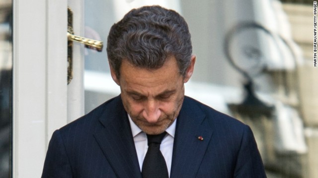 Former French president Nicolas Sarkozy in Paris on March 25, 2013.