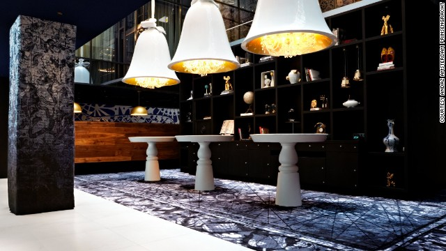 The eclectic decor of the Andaz Amsterdam Prinsengracht is the work of Dutch designer Marcel Wanders. The new hotel houses an extensive video art collection.