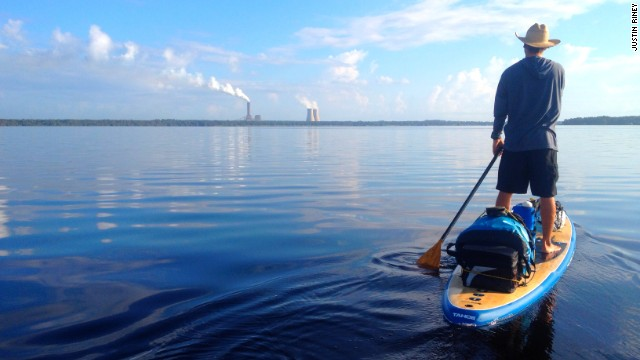 Explore the waterways around Jacksonville on a paddle board. This shot was taken during a conservation event for the St. Johns River in 2012.