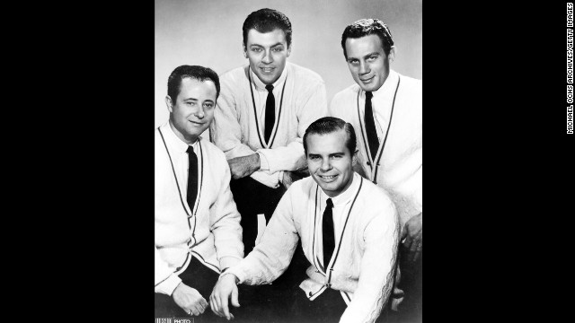 Gordon Stoker, left, who as part of the vocal group the Jordanaires sang backup on hits by Elvis Presley, died March 27 at 88.