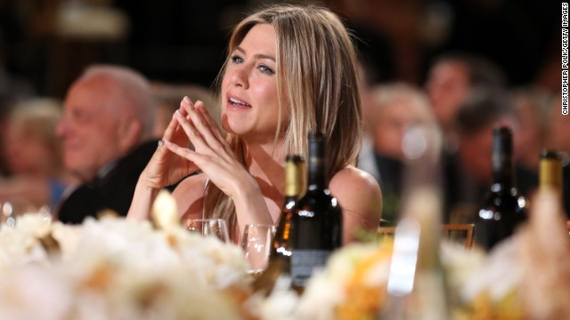 Aniston's special note to a senator