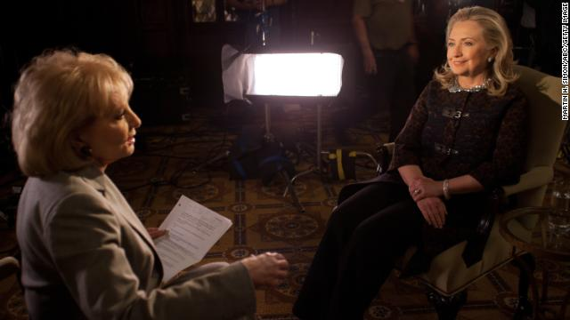 "Walters' annual specials on the year's ""most fascinating people"" focused on big names in entertainment, sports, politics and popular culture. In 2012 she interviewed then-Secretary of State Hillary Clinton."