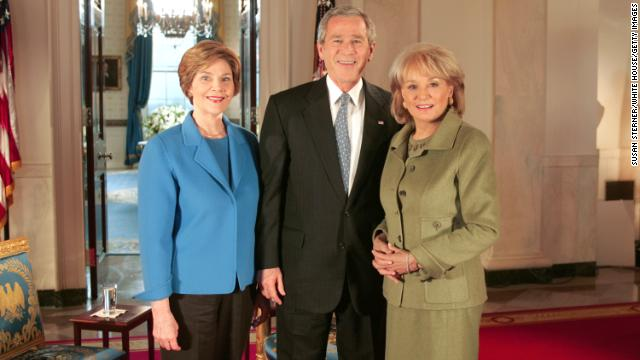 In 2005, Walters met with President George W. Bush and first lady Laura Bush for their first joint interview since winning the November 2004 election. 