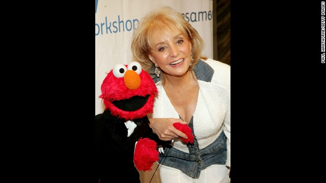 Walters and Elmo attended the Third Annual Sesame Workshop Benefit Gala at Cipriani 42nd Street in 2005 in New York.