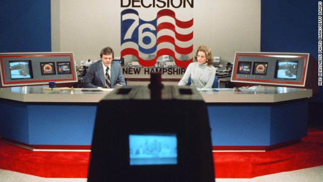 NBC News' Jim Hartz and Walters reported during the 1976 New Hampshire Democractic Primary. 