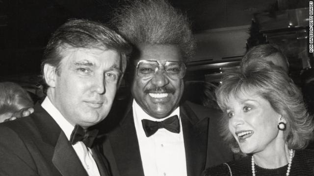 Donald Trump, Don King and Barbara Walters are shown in an undated photo.