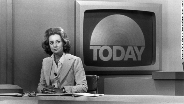 "A promotional portrait from 1976 shows Walters on the set of the ""Today Show."""