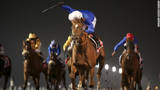 """There's no gambling allowed here in the Middle East in Dubai, it's against the law and it's against the religion,"" said Simon Crisford, manager at Godolphin Stables. ""It's all about the competition, the spirit of horse racing here is not about the betting."""