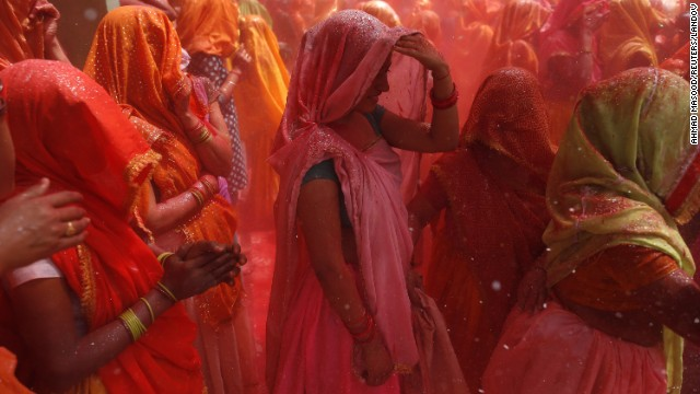 Hindus celebrate Holi, the Festival of Colors