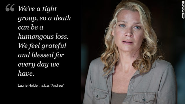 Laurie Holden's Andrea - who spent much of this season in Woodbury, home of the villainous Governor - has been one of the most discussed TV characters of the year.