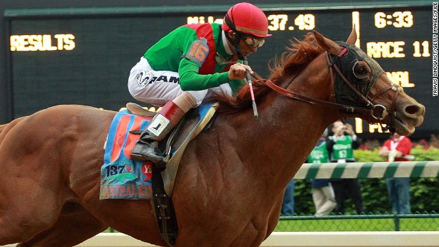 Animal Kingdom, seen here winning the Kentucky Derby in 2011, has won the the Dubai World Cup, world's richest horse race.