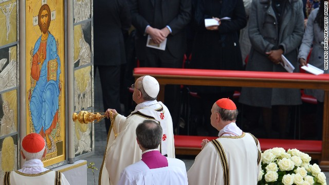 Pope Francis leads the Easter celebrations on Sunday.