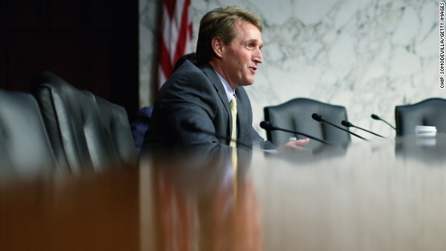Flake willing to support background checks, with changes to internet sales