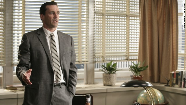 "Actor Jon Hamm plays Don Draper on the first season of ""Mad Men,"" set in the year 1960."