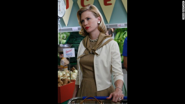Actress January Jones plays Don Draper's wife, Betty.