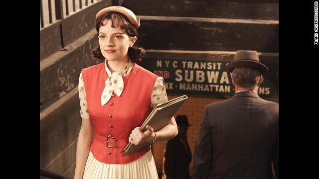 Peggy Olson takes public transportation in season 3.