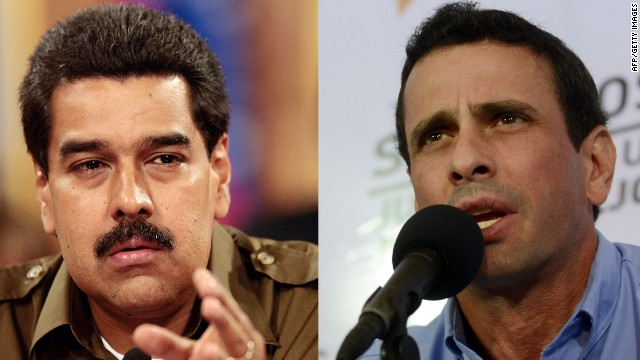 Nicolas Maduro and Henrique Capriles Radonski are vying for Venezuela's presidency.