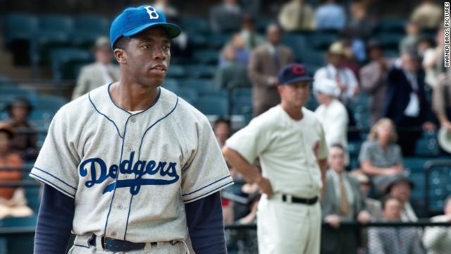 Chadwick Boseman stars as Jackie Robinson in
