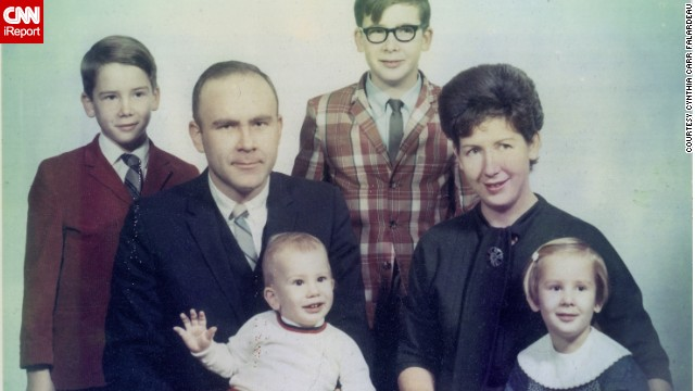 "Cynthia Carr Falardeau says this family photo from 1969 represents ""a time of innocence."""