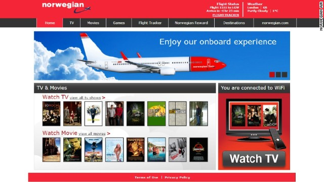 The carrier is also the first airline in Europe to let passengers rent movies and TV shows on their personal devices.