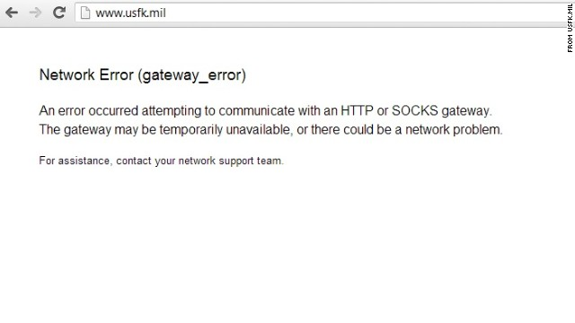 U.S. Forces Korea website down