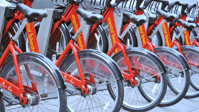 Bicycle sharing services like <a href='http://www.capitalbikeshare.com/' target='_blank'>Capital Bikeshare</a> in Washington allow short-term rentals.