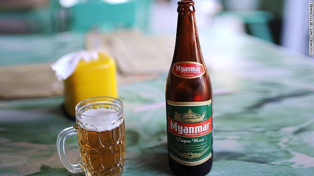 When the Burmese want to get a waiter's attention they make a kissing sound, usually two or three short kisses. It's the sort of sound you might make if calling a cat. Myanmar's national beer is cleverly called ... Myanmar Beer.