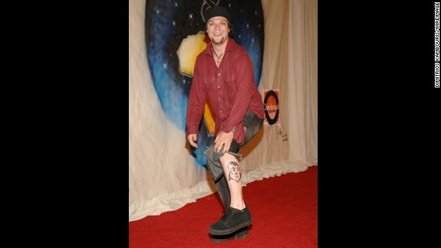 """Jackass"" and ""Viva La Bam"" star Bam Margera has a tattoo of his uncle, Vincent ""Don Vito"" Margera, on his leg."