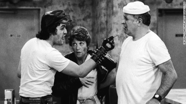 "In an early acting gig, Leno plays a biker on the TV sitcom ""Alice"" with Linda Lavin and Vic Tayback."