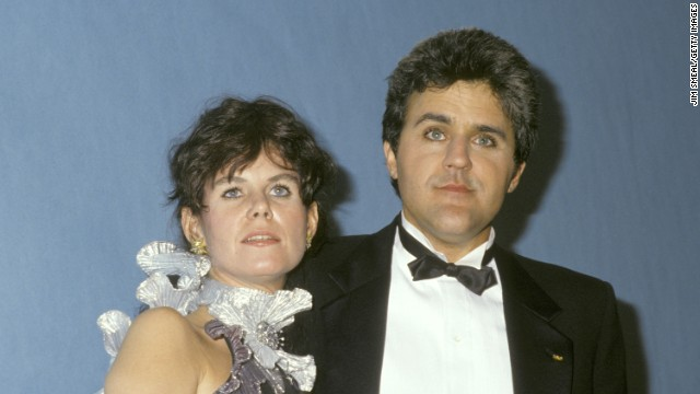 Leno and his wife, Mavis, attend the Emmys in 1987.