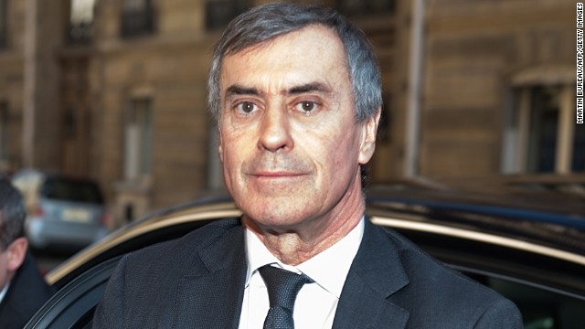 French former Budget minister Jerome Cahuzac arrives at the financial pole in Paris, on April 2, 2013.