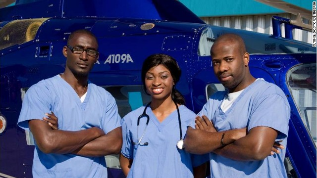 Ola Orekunrin (center) is the founder of Flying Doctors Nigeria, the first air ambulance service in West Africa.