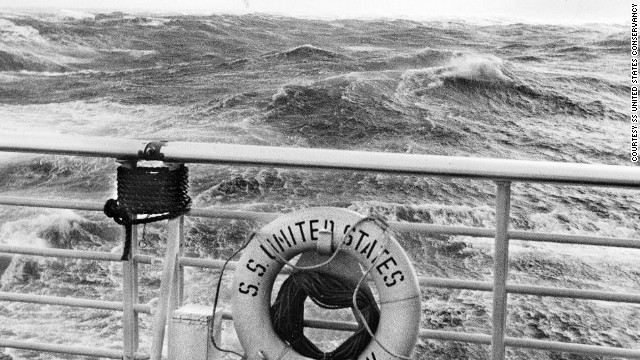 The SS United States powered through rough weather on a regular basis. On its first voyage, it set a trans-Atlantic speed record -- three days, 10 hours and 42 minutes -- a feat that has never been surpassed.