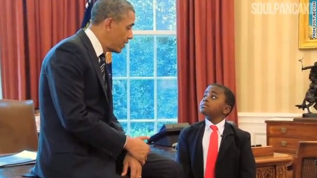 Kid President storms the White House