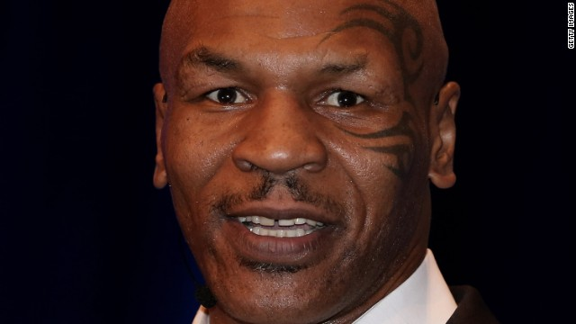 Mike Tyson enters ring with top senators