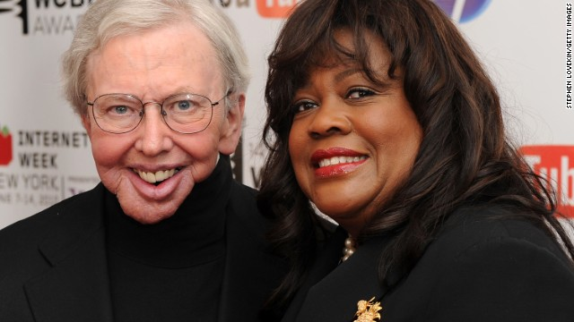 Ebert and his wife, Chaz Ebert, attend the 14th Annual Webby Awards on June 14, 2010, in New York.