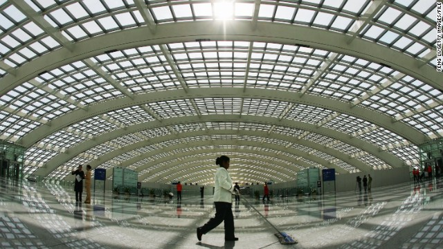 Beijing Capital International (pictured) is currently the busiest airport in China -- servicing 80 million passengers every year -- but will be nearing its operating capacity by the time the new facility is open for business.