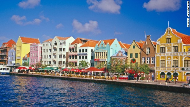 The World Heritage site of Willemstad, Curacao, owes its distinctive pastel shades to a Dutch governor's belief that the white walls of the town's buildings gave him headaches.