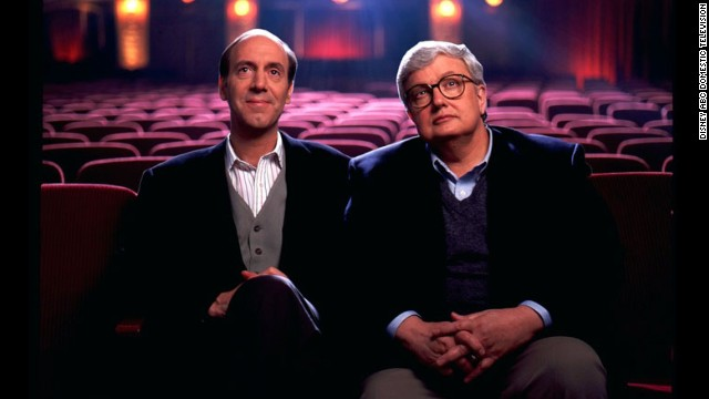 Film critics Gene Siskel, left, and Roger Ebert pose in this undated photograph. Ebert died on Thursday, April 4, according to his employer, the Chicago Sun-Times. Ebert had taken a leave of absence on April 2 after a hip fracture was revealed to be cancer.