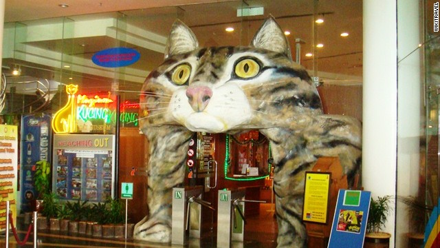 Cats are considered lucky in Malaysia, and the Kuching Cat Museum in Sarawak pays respectful (and somewhat wacky) homage to these good-luck charms.