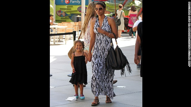 Halle Berry gave birth to her daughter, Nahla, in March 2008. Nahla's father is Gabriel Aubry. The actress, 46, is pregnant with her second child -- her first with fiancé Olivier Martinez.